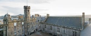 Edinburgh Castle, Crown Square. <p> 'Plastic' replaces iron pipework at historic landmark